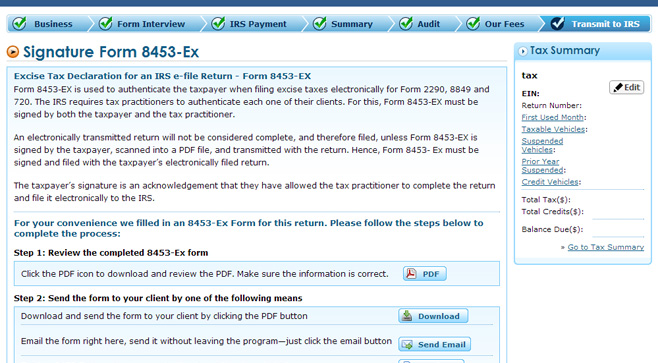 2290 E-filing process | Do 2290 taxes online | IRS 2290 online filing